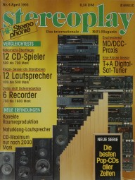 Stereoplay 4/1993 Zeitschrift
