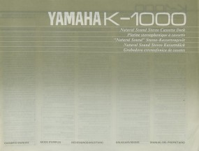 Yamaha K-1000 Bedienungsanleitung