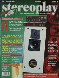 Stereoplay 1/1994 Zeitschrift