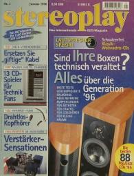 Stereoplay 1/1996 Zeitschrift