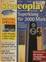 Stereoplay 4/1996 Zeitschrift