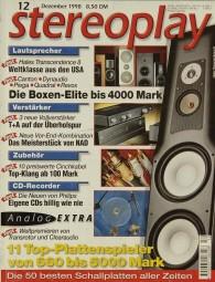 Stereoplay 12/1998 Zeitschrift
