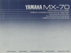 Yamaha MX-70 Bedienungsanleitung