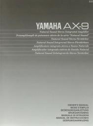 Yamaha AX-9 Bedienungsanleitung