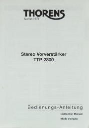 Thorens TTP 2300 Bedienungsanleitung