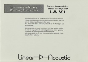 Linear Acoustic LA V1 Bedienungsanleitung