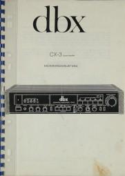 DBX CX-3 Bedienungsanleitung