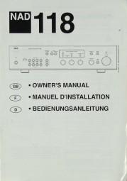 NAD 118 Bedienungsanleitung