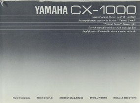 Yamaha CX-1000 Bedienungsanleitung