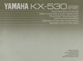 Yamaha KX-530 Bedienungsanleitung