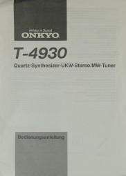 Onkyo T-4930 Bedienungsanleitung