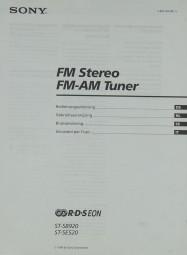 Sony ST-SB 920 / ST-SE 520 Bedienungsanleitung