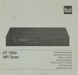 Dual CT 7050 Bedienungsanleitung