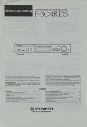 Pioneer F-304 RDS Bedienungsanleitung