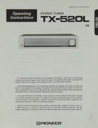 Pioneer TX-520 L Bedienungsanleitung