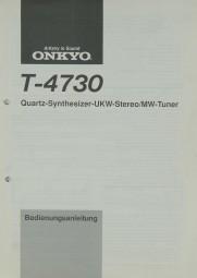 Onkyo T-4730 Bedienungsanleitung