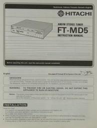 Hitachi FT-MD 5 Bedienungsanleitung