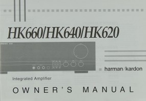 Harman / Kardom HK 660 / HK 640 / HK 620 Bedienungsanleitung