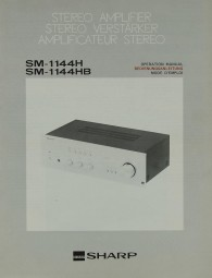 Sharp SM-1144 H / HB Bedienungsanleitung