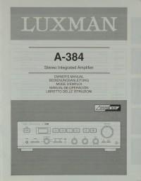 Luxman A-384 Bedienungsanleitung