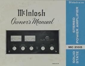 McIntosh MC 2105 Bedienungsanleitung