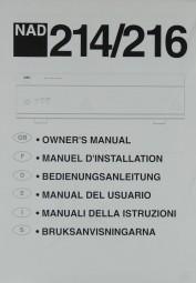 NAD 214 / 216 Bedienungsanleitung