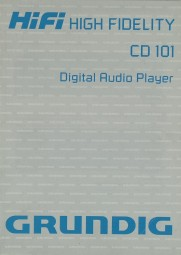 Grundig CD 101 Bedienungsanleitung
