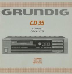 Grundig CD 35 Bedienungsanleitung
