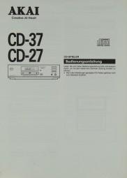 Akai CD-37 / CD-27 Bedienungsanleitung