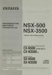 Aiwa NSX-500 / 3500 Bedienungsanleitung