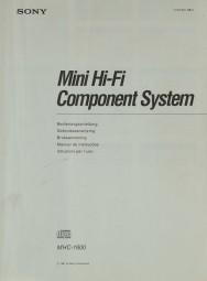Sony MHC-1600 Bedienungsanleitung
