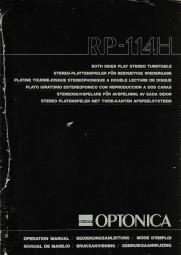 Sharp Optonica RP-114 H Bedienungsanleitung