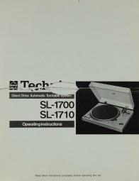 Technics SL-1700 / SL-1710 Bedienungsanleitung