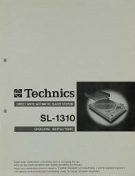 Technics SL-1310 Bedienungsanleitung