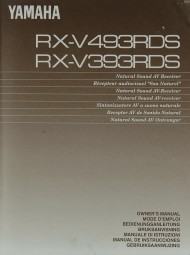Yamaha RX-V 493 RDS / 393 RDS Bedienungsanleitung