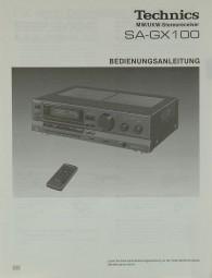 Technics SA-GX 100 Bedienungsanleitung
