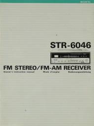 Sony STR-6046 Bedienungsanleitung