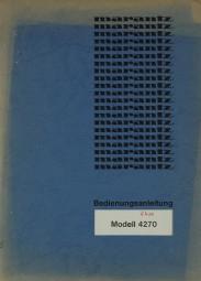 Marantz Modell 4270 Bedienungsanleitung