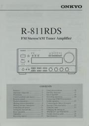 Onkyo R-811 RDS Bedienungsanleitung