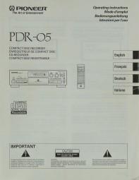 Pioneer PDR-05 Bedienungsanleitung