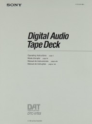 Sony DTC-57 ES Bedienungsanleitung