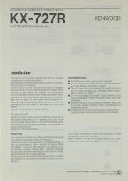Kenwood KX-727 R Bedienungsanleitung