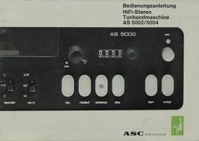 ASC AS 5002 / 5004 Bedienungsanleitung