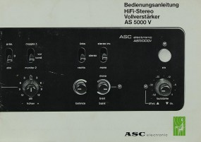 ASC AS 5000 V Bedienungsanleitung