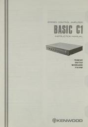 Kenwood Basic C-1 Bedienungsanleitung