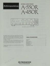 Pioneer A-550 R / A-450 R Bedienungsanleitung