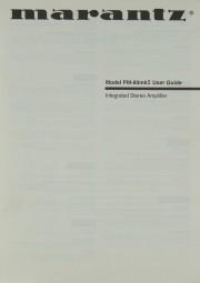Marantz PM-80 mk II Bedienungsanleitung