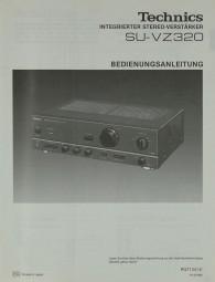 Technics SU-VZ 320 Bedienungsanleitung