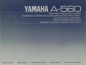 Yamaha A-560 Bedienungsanleitung