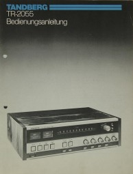 Tandberg TR-2055 Bedienungsanleitung